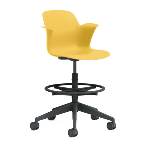 Node Mid Back 5-Star Base Stool by Steelcase