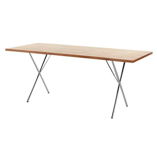 """Nelson X-Leg Table, 36"""" x 84"""" Veneer Top by Herman Miller"""