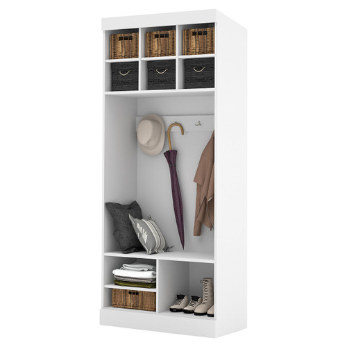 """Pur 36"""" Storage Unit with Bench by Bestar"""