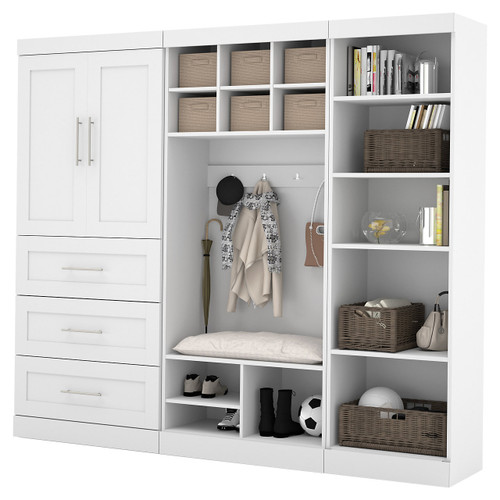 """Pur 97"""" Mudroom Kit Shelving System by Bestar"""
