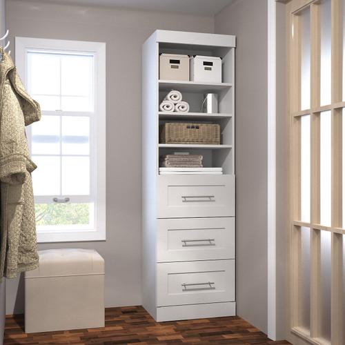 "Pur 25"" Storage Unit with 3-Drawer Set by Bestar"