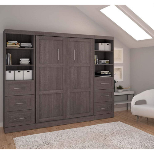 """Pur 109"""" Full Wall Bed Kit with 3 Drawers"""