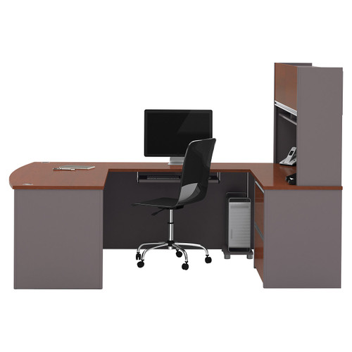 Connexion U-Shaped Workstation Kit with Hutch by Bestar