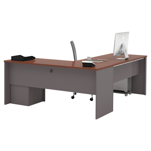 Connexion L-Shaped Workstation Kit with One Pedestal by Bestar