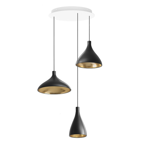 """Swell Mix Chandelier with 17"""" Canopy by Pablo Designs"""