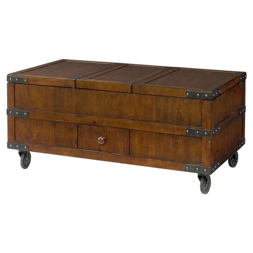 Hidden Treasures Trunk Cocktail Table by Hammary