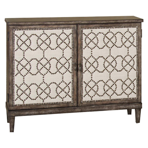 Hidden Treasures Nailhead Cabinet by Hammary