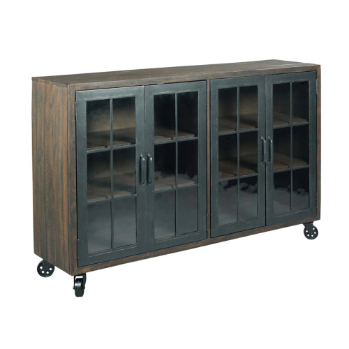Hidden Treasures Trolley Door Cabinet by Hammary