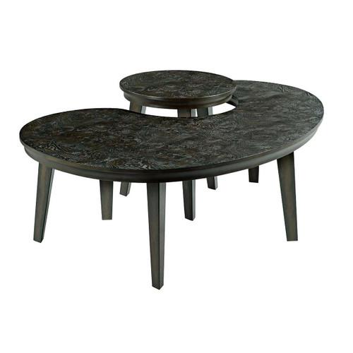 Hidden Treasures Kidney Nesting Tables by Hammary