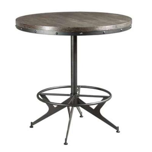 Hidden Treasures Round Bar Table by Hammary