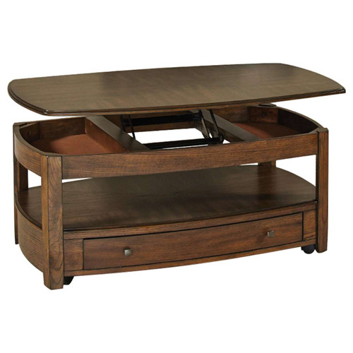 Primo Rectangular Lift-Top Cocktail Table in Graphite by Hammary