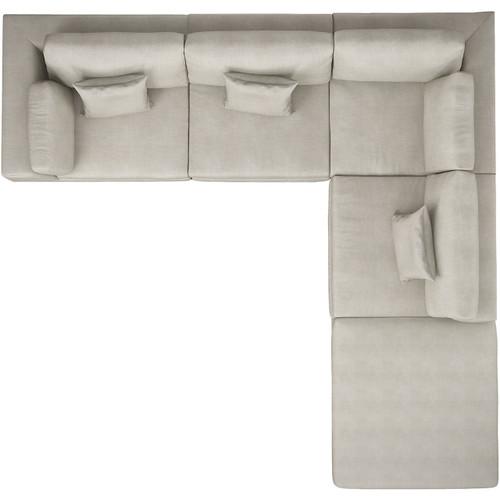 Perry One Arm Corner Sofa with Left Facing Arm by Modloft