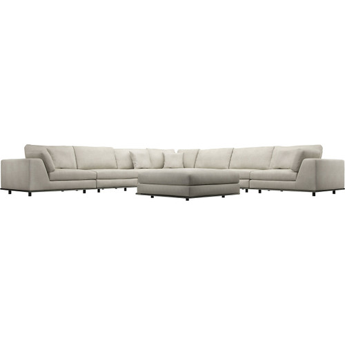 Perry 2 Arm Large Corner Sofa with Ottoman by Modloft