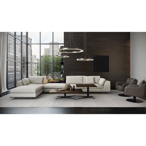 Perry 1 Arm Corner Sofa with 2 Ottomans and Right Facing Arm by Modloft