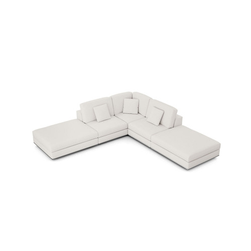Perry Sectional Open Sofa with Ottoman by Modloft