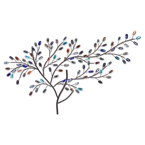 Leinster Metal and Glass Tree Wall Sculpture