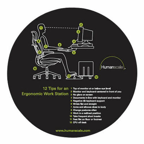10 Tips Ergo Mouse Pad by Humanscale