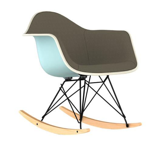 Eames Upholstered Molded Plastic Rocker by Herman Miller
