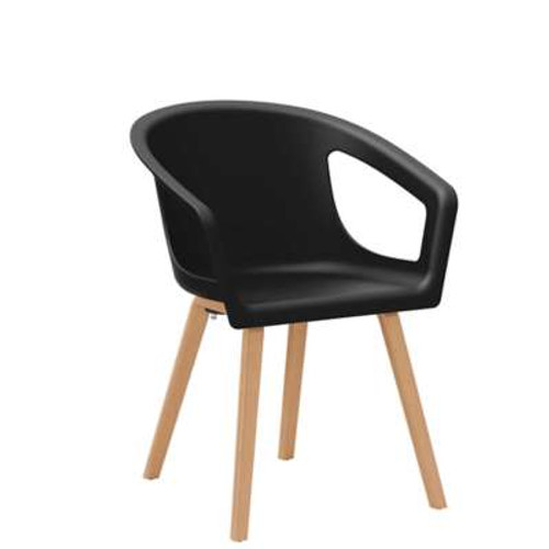 Decker Side Chair with Wood Legs