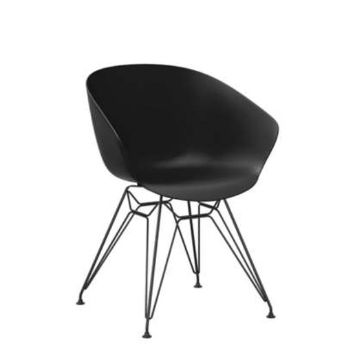 Decker Side Chair with Metal Legs