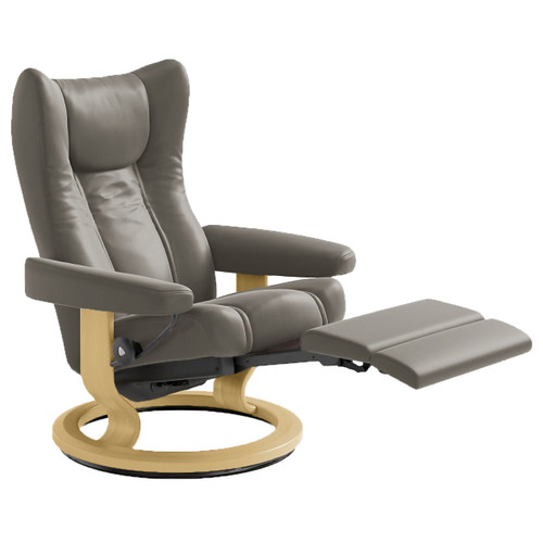 Stressless Wing Chair Large with Power Base by Ekornes