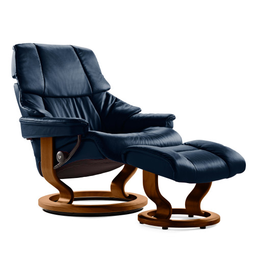 Stressless Reno Chair and Ottoman, Small with Classic Base by Ekornes
