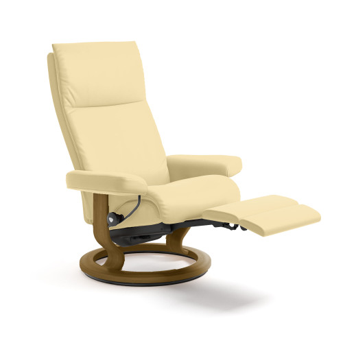 Stressless Aura Chair Medium with Power Base by Ekornes