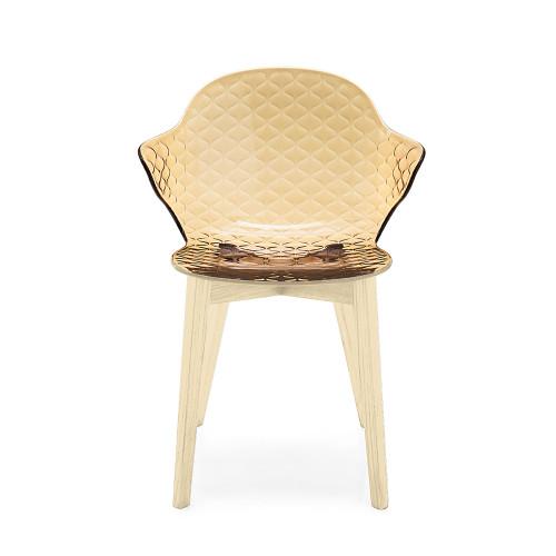 Saint Tropez W Chair-4 Leg Wooden Base by Calligaris