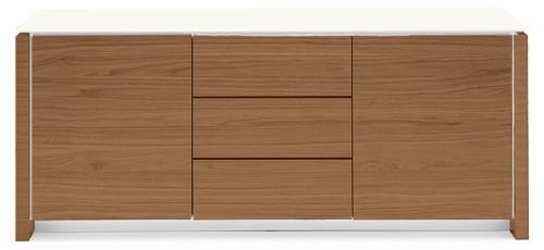 Mag Wood Cabinet - 2 Side Door - 3 Central Drawer