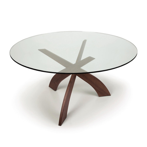 Entwine Round Glass Top Dining Table by Copeland Furniture