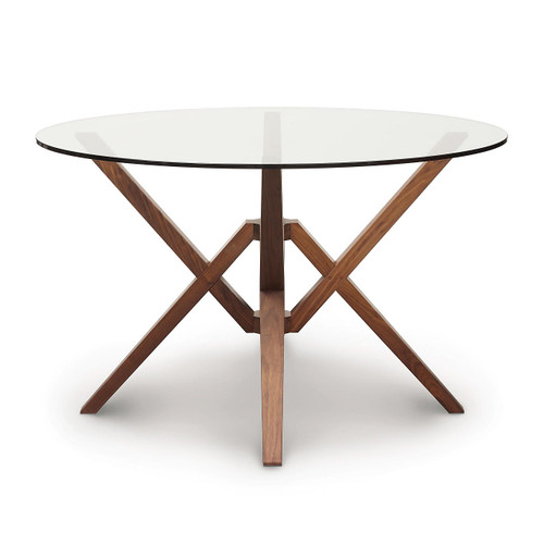 Exeter Round Table with Glass Top by Copeland Furniture