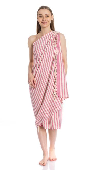 Canadian Towels Anatolian Handloom 100% Organic Turkish Cotton Towel (Red)