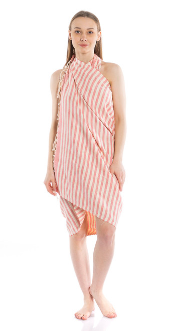Canadian Towels Anatolian Handloom 100% Organic Turkish Cotton Towel (Pink)