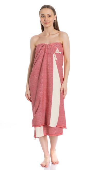 Canadian Towels Classic Handloom 100% Organic Turkish Cotton Towel (Red)