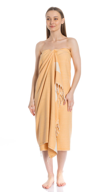 Canadian Towels Classic Handloom 100% Organic Turkish Cotton Towel (Camel Brown)