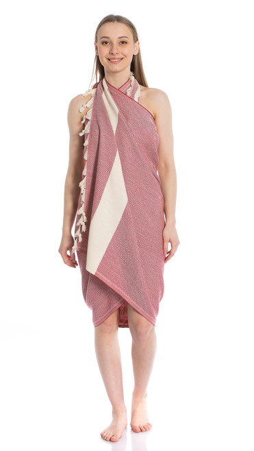 Canadian Towels Deluxe Handloom 100% Organic Turkish Cotton Towel (Red)