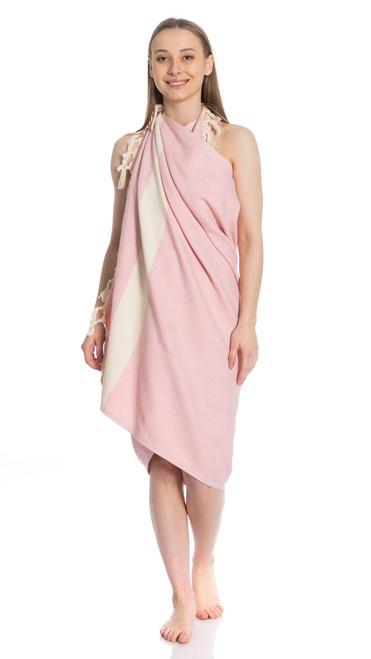 Canadian Towels Deluxe Handloom 100% Organic Turkish Cotton Towel (Pink)