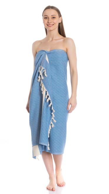 Canadian Towels Deluxe Handloom 100% Organic Turkish Cotton Towel (Blue)