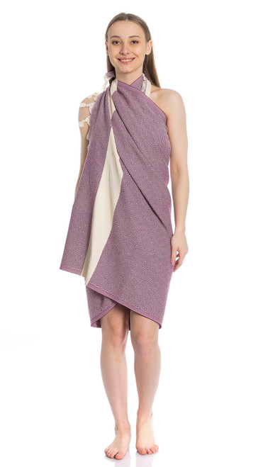 Canadian Towels Deluxe Handloom 100% Organic Turkish Cotton Towel (Purple)