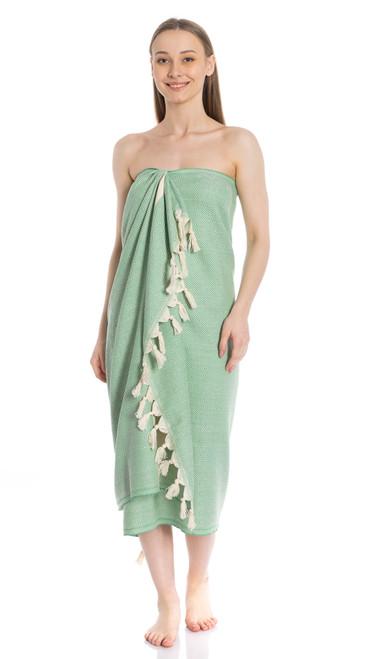 Canadian Towels Deluxe Handloom 100% Organic Turkish Cotton Towel (Green)