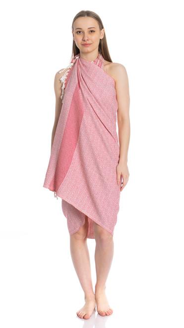 Canadian Towels Premium Handloom 100% Organic Turkish Cotton Towel (Red)