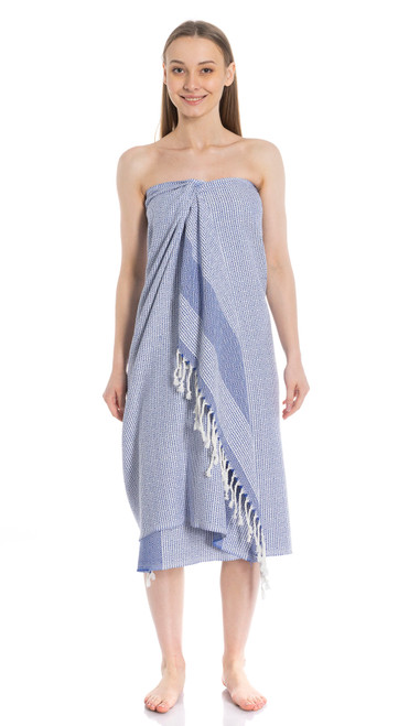 Canadian Towels Premium Handloom 100% Organic Turkish Cotton Towel (Blue)