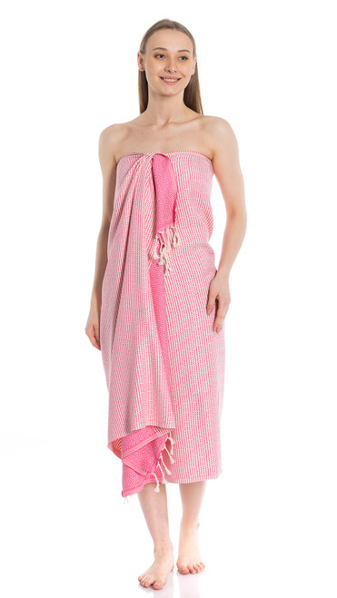 Canadian Towels Traditional Handloom 100% Organic Turkish Cotton Towel (Pink)