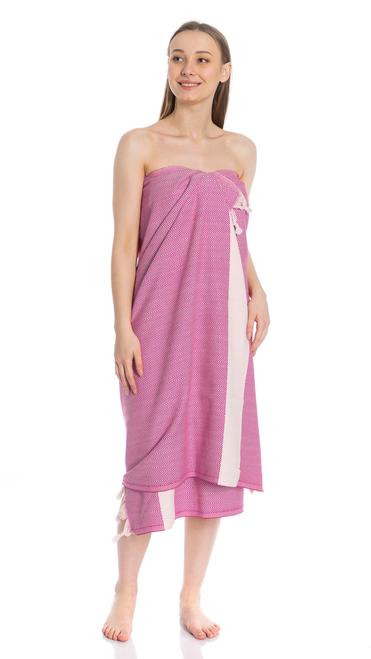 Canadian Towels Classic Handloom 100% Organic Turkish Cotton Towel (Cherry Pink)