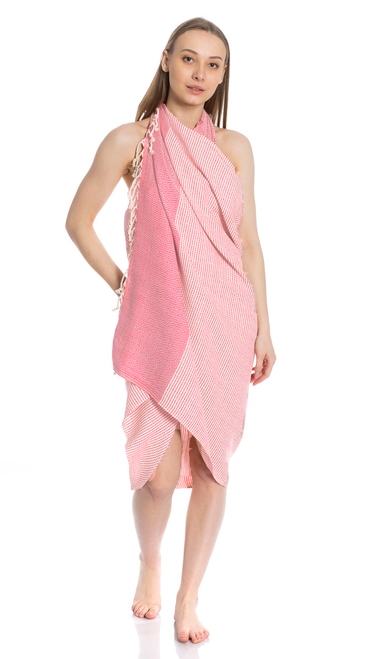 Canadian Towels Traditional Handloom 100% Organic Turkish Cotton Towel (Rose)