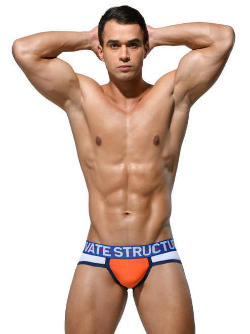 Private Structure MIUY3854 Momentum Orange Contour Briefs