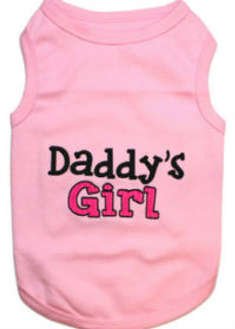 Daddy's Girl Pet T-Shirt Embroidered Designed 100% Cotton