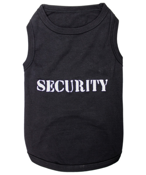 Security Pet T-Shirt Embroidered Designed 100% Cotton