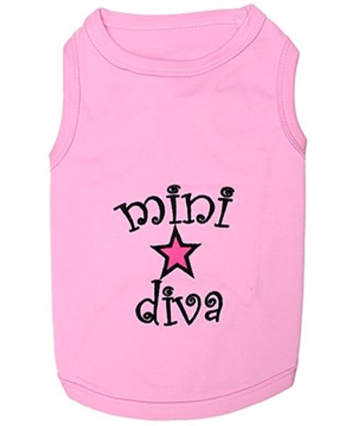 Pet T-Shirt Embroidered Designed 100% Quality Cotton Mini Diva