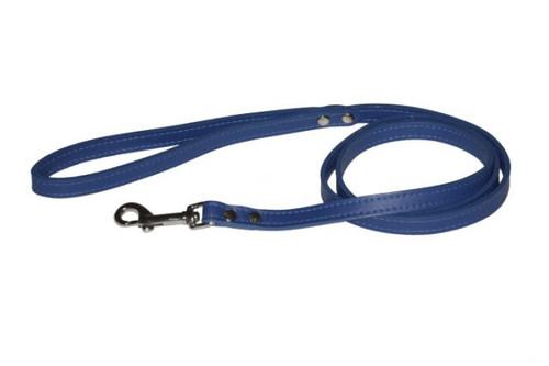 Blue Non-Metallic Leather Lead